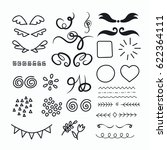 hand drawn set of elements for... | Shutterstock .eps vector #622364111