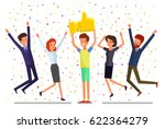 concept of likes and positive... | Shutterstock .eps vector #622364279
