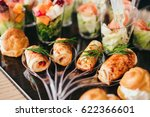 beautifully decorated catering... | Shutterstock . vector #622366601