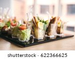 beautifully decorated catering... | Shutterstock . vector #622366625