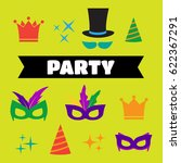 festive birthday party elements ... | Shutterstock . vector #622367291