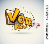 "megaphone with ""vote"" vote... | Shutterstock .eps vector #622369571"