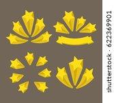 yellow stars isolated... | Shutterstock . vector #622369901