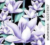 elegant floral seamless pattern ... | Shutterstock . vector #622373567