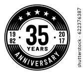 35 years anniversary logo... | Shutterstock .eps vector #622376387