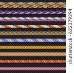 seamless vector straight ropes...   Shutterstock .eps vector #622379294