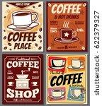 cafe and restaurant retro... | Shutterstock .eps vector #622379327