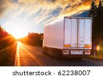 white truck on the asphalt... | Shutterstock . vector #62238007