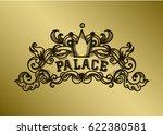 monogram engraving design... | Shutterstock .eps vector #622380581