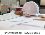 engineer or architect office... | Shutterstock . vector #622381511