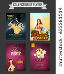 collection of four creative... | Shutterstock .eps vector #622381514