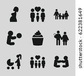 mom icons set. set of 9 mom...   Shutterstock .eps vector #622381649