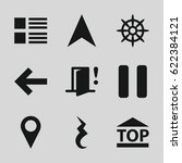 navigation icons set. set of 9...