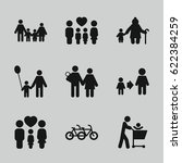 father icons set. set of 9... | Shutterstock .eps vector #622384259