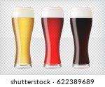 realistic beer glasses. mugs... | Shutterstock .eps vector #622389689