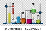 realistic transparent chemical... | Shutterstock .eps vector #622390277