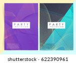 intertwined colorful lines.... | Shutterstock .eps vector #622390961