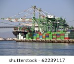 Containers  Cranes  Bridge And...