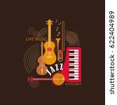 music logo. music festival ... | Shutterstock .eps vector #622404989