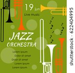 vector poster for the jazz... | Shutterstock .eps vector #622404995