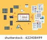laptop accessing server files... | Shutterstock .eps vector #622408499