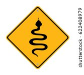 snake warning sign  symbol ... | Shutterstock .eps vector #622408979