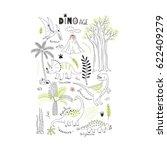 dinosaur modern graphic print | Shutterstock .eps vector #622409279