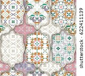 seamless patchwork pattern from ... | Shutterstock .eps vector #622411139