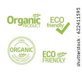 organic natural product labels... | Shutterstock .eps vector #622411595