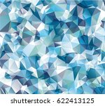 blue polygon background with... | Shutterstock .eps vector #622413125
