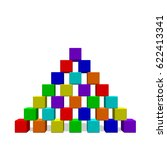 pyramid from toy building... | Shutterstock .eps vector #622413341