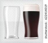 realistic beer glasses. mug... | Shutterstock .eps vector #622414019