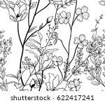 vector black decorative... | Shutterstock .eps vector #622417241