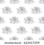 vector black decorative... | Shutterstock .eps vector #622417259