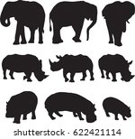 african three types shape of... | Shutterstock .eps vector #622421114