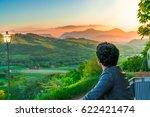 young man enjoying the view of...   Shutterstock . vector #622421474