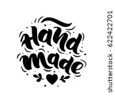 hand made. hand drawn lettering.... | Shutterstock .eps vector #622422701