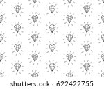 black decorative seamless... | Shutterstock .eps vector #622422755