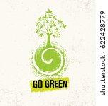 go green whimsical tree growing ... | Shutterstock .eps vector #622428779