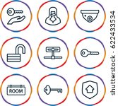 private icons set. set of 9... | Shutterstock .eps vector #622433534