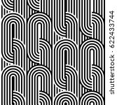 abstract vector seamless op art ... | Shutterstock .eps vector #622433744