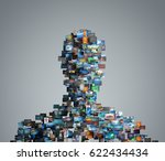 portrait made with pictures  3d ... | Shutterstock . vector #622434434