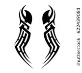 tattoo sketch tribal vector... | Shutterstock .eps vector #622439081