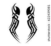 tattoo sketch tribal vector... | Shutterstock .eps vector #622439081