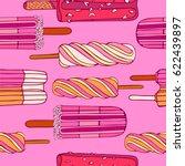 ice cream pattern  vector... | Shutterstock .eps vector #622439897