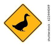 duck crossing sign. symbol ...   Shutterstock .eps vector #622444049