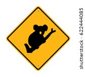 koala bear road sign. traffic... | Shutterstock .eps vector #622444085