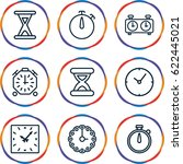 second icons set. set of 9... | Shutterstock .eps vector #622445021