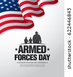 armed forces day template... | Shutterstock .eps vector #622446845