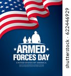 armed forces day template... | Shutterstock .eps vector #622446929
